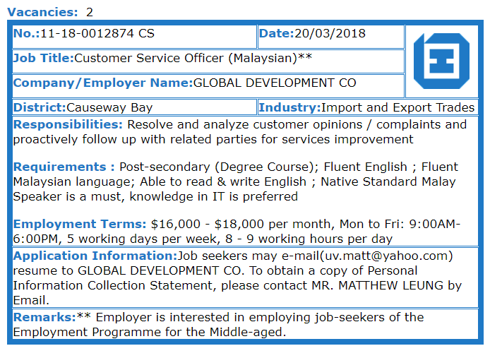 New Home Association - Customer Service Officer (Malaysian